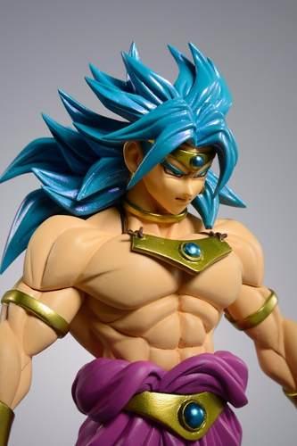Broly Cabelo Azul Dragon Ball Scultures - Banpresto