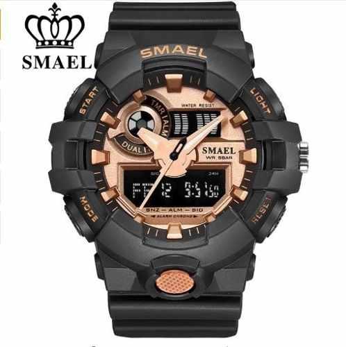 Relógio Masculino Esportivo Militar Shock Smael Ws1642-8 Black Golden