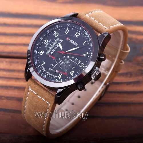 Relógio Curren Original 8152-1 Preto Masculino