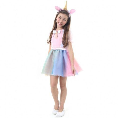 Fantasia Unicórnio Vestido Infantil Sulamericana