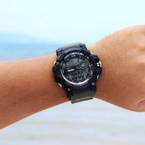 Relógio G-shock Esportivo Waknoer Digital Verde Militar