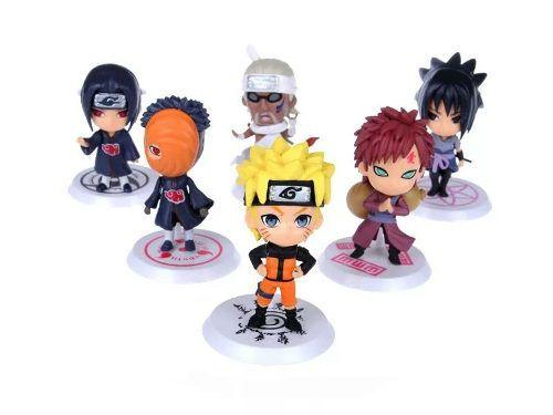 Coleção Bonecos Mini Funko Naruto Sasuke Kakashi Sakura 12un