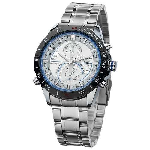 Relógio Curren 8149 Masculino Original Luxo Fundo Branco