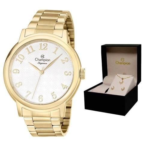 Relógio Champion Cn26368w + Brinde Kit Semijoias