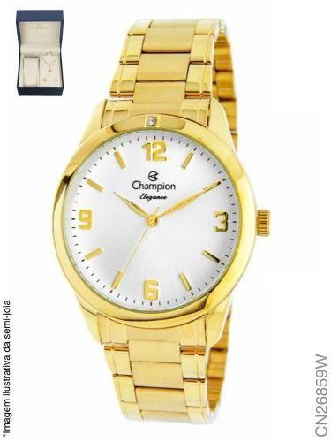 Relógio Champion Feminino Cn26859w + Kit Semijoia