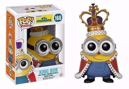 Minions Boneco Pop De Vinil Da Funko Rei Bob 10cms