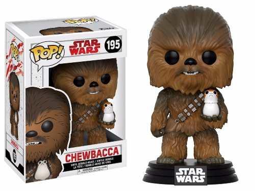 Star Wars Ultimos Jedi Boneco Pop Funko Chewbacca E Porg 195