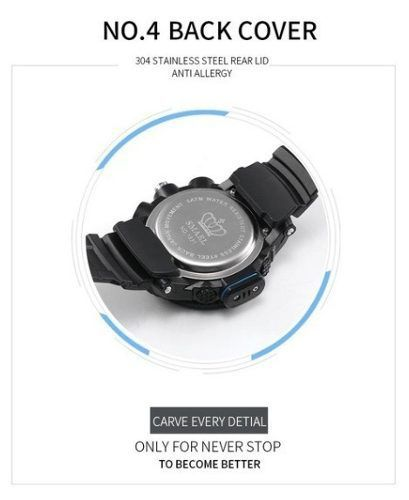 Relógio Time S-shock 1531 Esportivo A Prova D'água Laranja