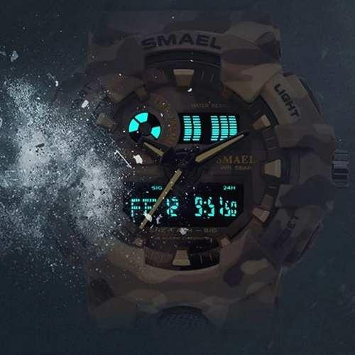 Relógio Militar Esportivo Digital Shock Camuflado Smael 8001