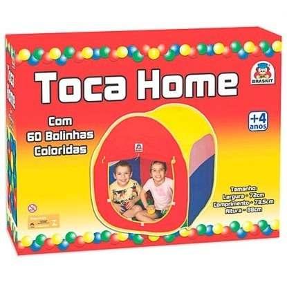 Barraca Toca Home Com 60 Bolinhas 610-7 - Braskit