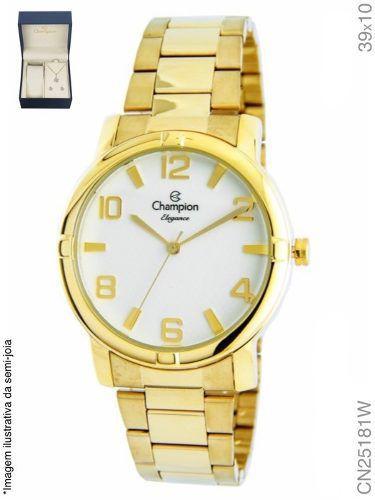 Relógio Champion Feminino + Conjunto Semi Joia Cn25181w