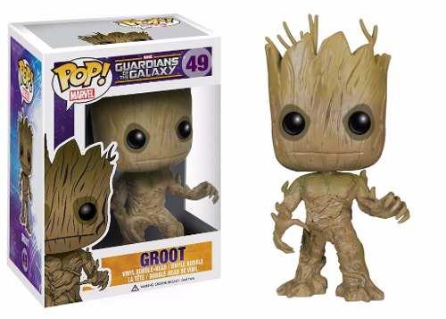 Guardiões Da Galáxia - Groot Boneco Pop Funko - 10 Cms