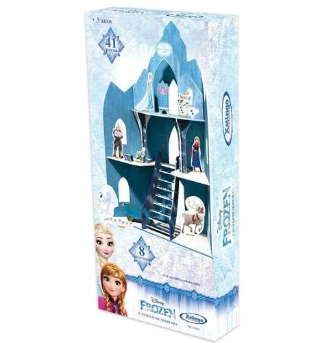 Playset Frozen Castelo De Madeira 41 Peças Xalingo