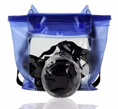 Capa Bolsa Estanque Prova Dágua Sony Nikon Canon Universal