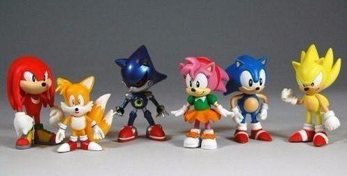 Kit Action Figure Sonic -conjunto C 6 Bonecos Pronta Entrega
