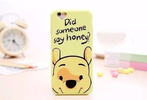 Capa Iphone 6s Ou 6 Plus Ursinho Pooh Puff Ou Leitão Disney