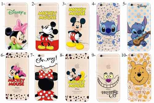Capinha Case Silicone Iphone 6 Disney Mickey Stitch Herói