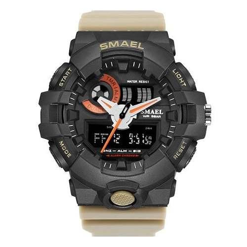 Relógio Masculino Esportivo Militar Shock Smael 1642 Kaqui