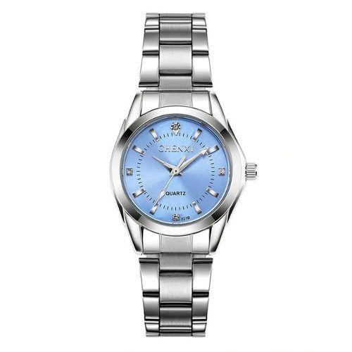 Relógio Masculino Quartzo Chenxi Fundo Azul Aço Inoxidável