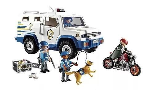 Playmobil Carro Forte Da Polícia Blindado Com Policiais 9371