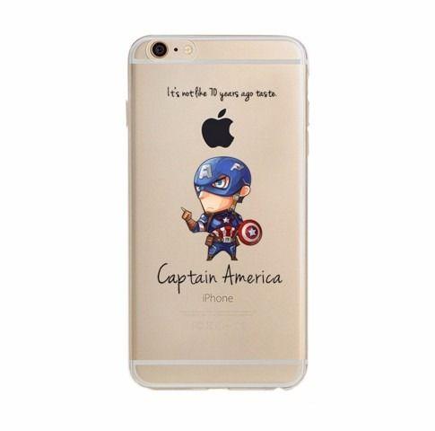 Capinha Case Capa Iphone 6 P Vingadores Capitão América