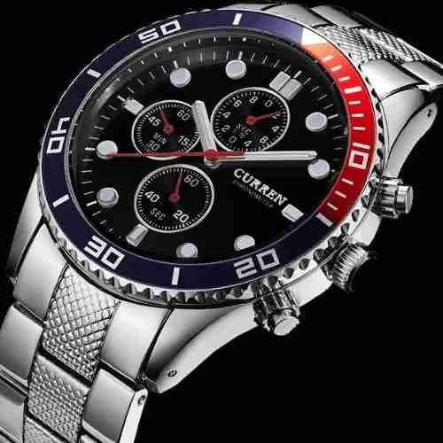 Relógio Pulso Curren Aço Inox Luxo Prova Dagua Original 8028