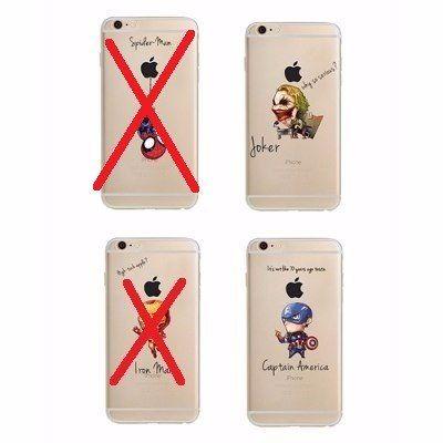 Capinha Case Capa Iphone 6 ou 6Plus Vingadores Coringa Marvel Dc