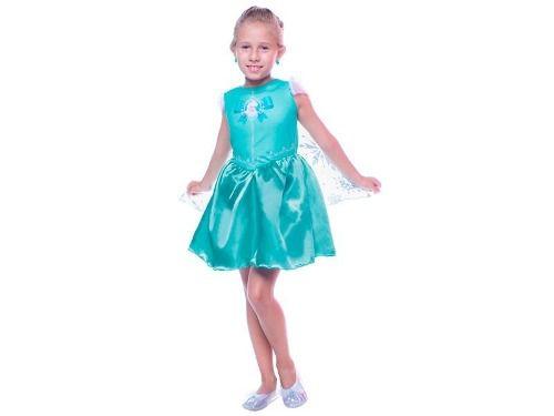 Fantasia Frozen Infantil Elsa Pop Com Capa Original Disney