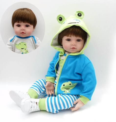 Bebê Reborn Menino Sapo Lindo Muito Realista 45cm