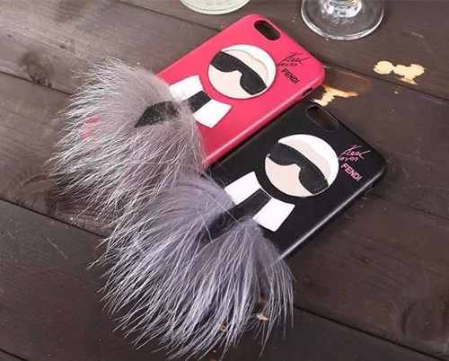 Capinha Capa Case Iphone 6 Plus 6s Fendi Karlito Rosa