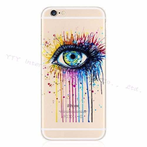 Capinha Capa Case Apple Iphone 5 5s Silicone Olho