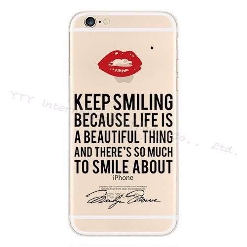 Capinha Capa Case Apple Iphone 5 5s Silicone Boca Keep Smili