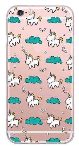 Capinha Capa Case Iphone 5 6 Plus Tpu Silicone Unicornio