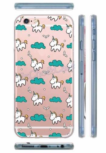 Capinha Capa Case Iphone 5 6 Plus Tpu Silicone Unicornio
