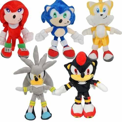 Coleção Sonic, Silver, Knuckles, Tails E Shadow Kit Pelúcias