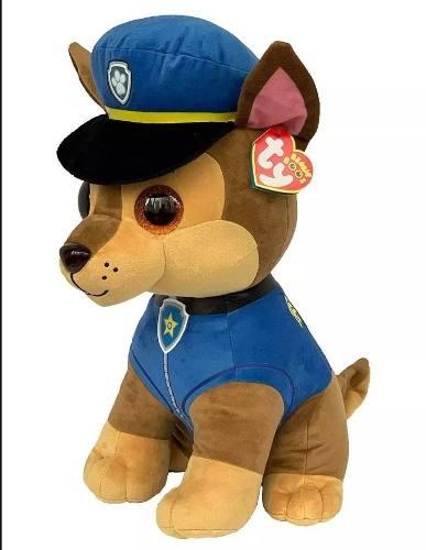 Chase Pelúcia Beanie 40 Cm Patrulha Canina Ty - Dtc 4927