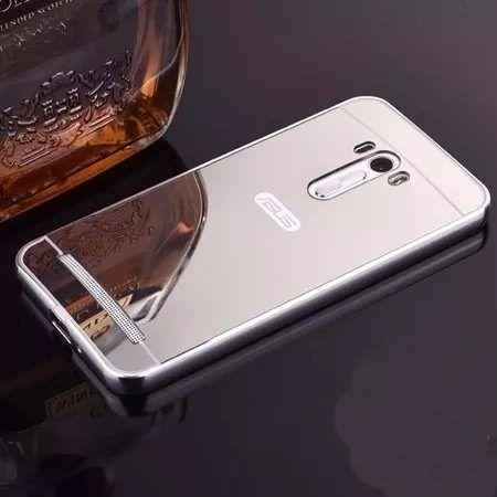 Capa Case Bumper Espelhada Asus Zenfone 2 Laser Tela 5.5 Top - PRATA