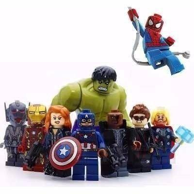 Kit Lego Marvel! 8 Vingadores + Homem Aranha