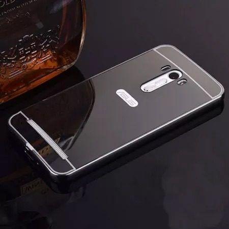 Capa Case Bumper Espelhada Asus Zenfone 2 Laser Tela 5.5 Top  - PRETA