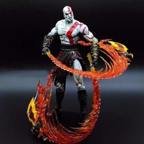 Boneco God Of War Kratos Flaming Blades Of Athenas Neca