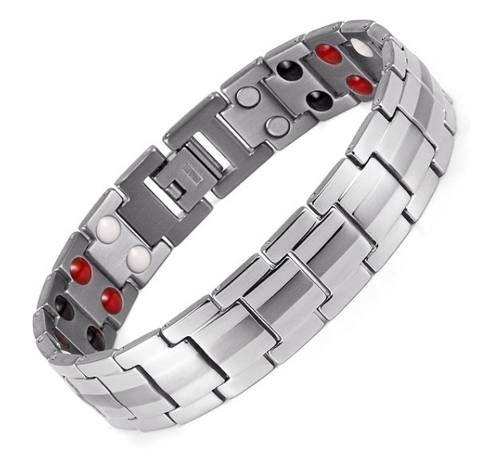 Pulseira Magnética Fir Energética Bracelete Titânio Masculina