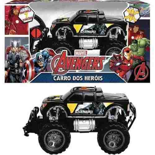 Brinquedo Carrinho Pick-up Road 4x4 Controle Pantera Negra Vingadores