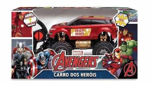 Brinquedo Carrinho Pick-up Road 4x4 Controle Homem de Ferro Vingadores