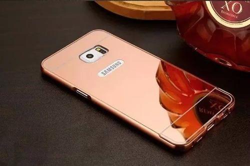Capa Case Bumper Alumínio Metal Espelhado Galaxy S6 G920 Top