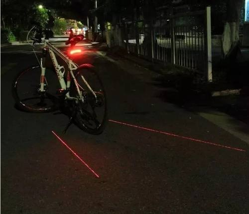 Lanterna Farol Traseira Bike Led Laser Seta Controle Bi092
