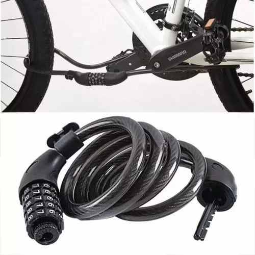 Trava Tranca Cadeado Anti Furto Com Senha Cabo D Aço P/ Bike