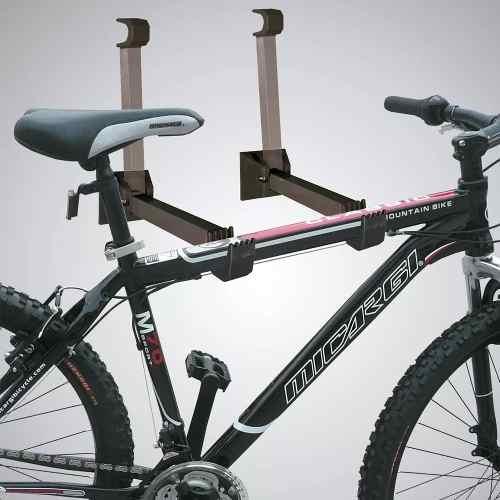 Suporte Retrátil Dobrável Parede Bicicleta Emborrachado