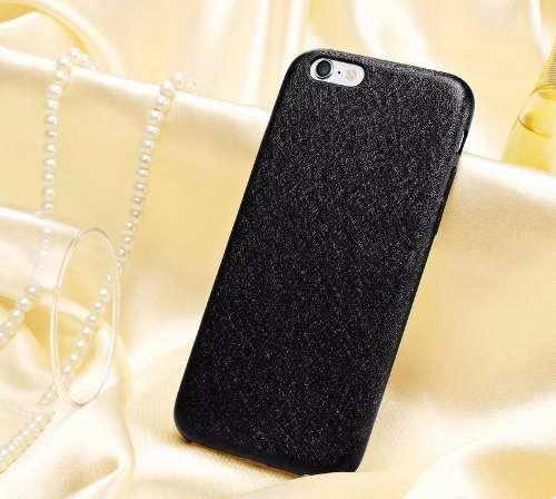 Capa Case Capinha Couro Premium Apple Iphone 6 Preta Luxo
