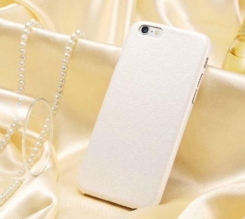Capa Case Capinha Couro Premium Apple Iphone 6 Branca Luxo