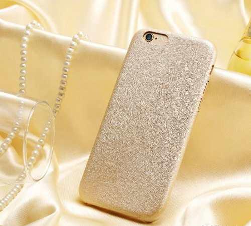 Capa Case Capinha Couro Premium Apple Iphone 6 Dourada Luxo